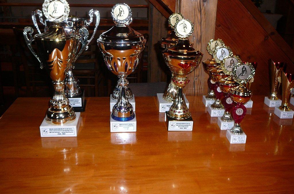 Siegerehrung Vereinsmeisterschaften 2017